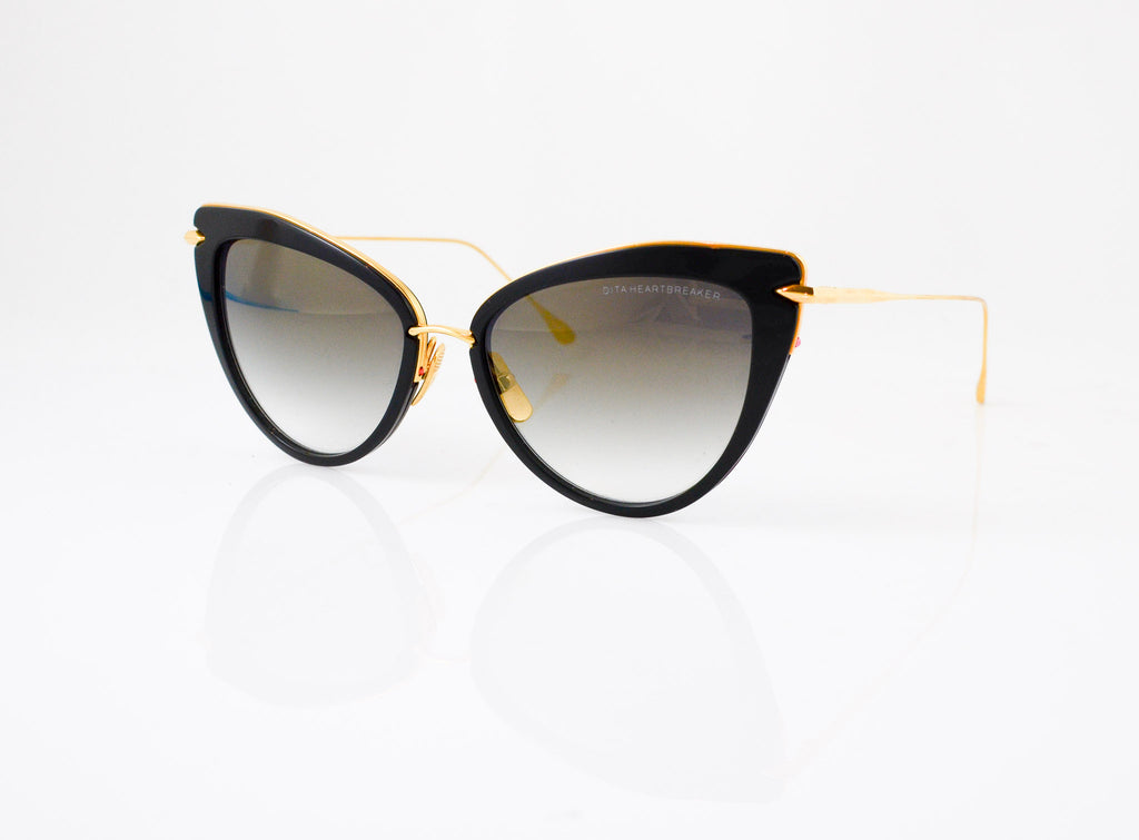 DITA Heartbreaker Sunglasses in Black with Gold, side view, from Specs Optometry