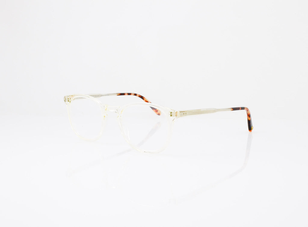 GLCO Kinney Eyeglasses in Champagne with Dark Tortoise Fade, side view