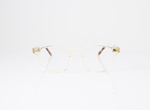 GLCO Warren Eyeglasses in Champagne with Dark Tortoise Fade, front view, from Specs Optometry