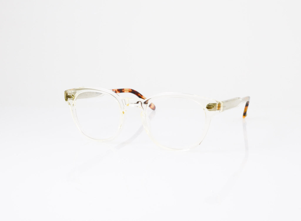 GLCO Warren Eyeglasses in Champagne with Dark Tortoise Fade, side view, from Specs Optometry