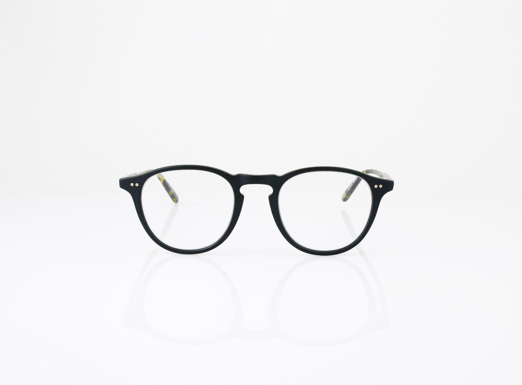 GLCO Hampton Eyeglasses in Matte Black with Matte Tokyo Spotted Tortoise, front view