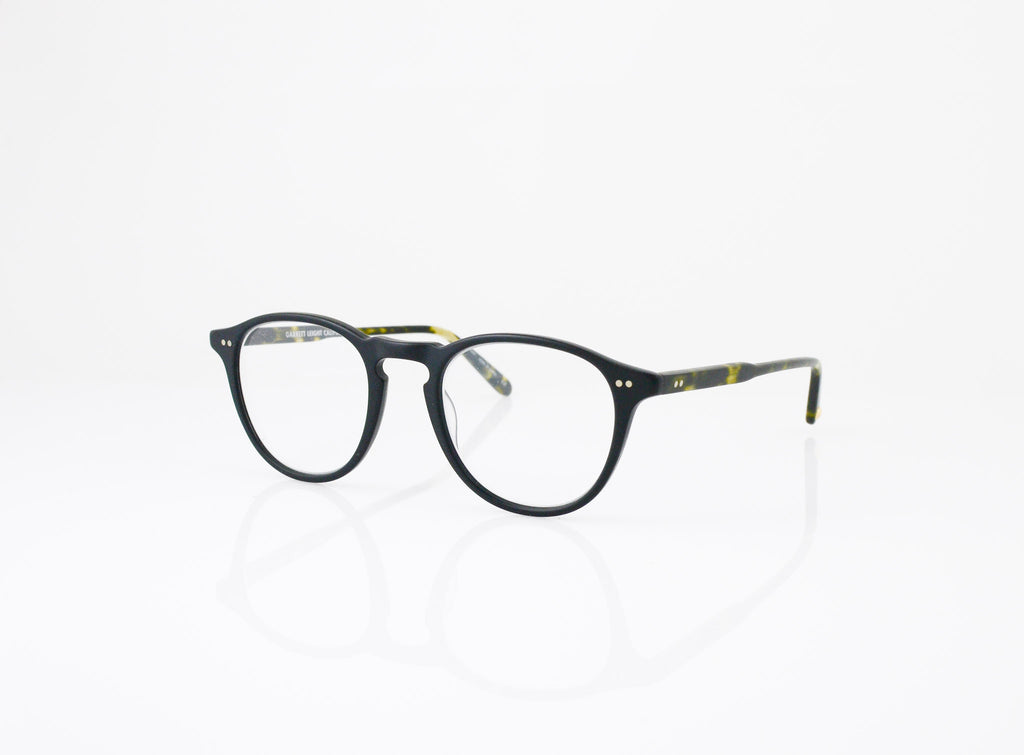 GLCO Hampton Eyeglasses in Matte Black with Matte Tokyo Spotted Tortoise, side view