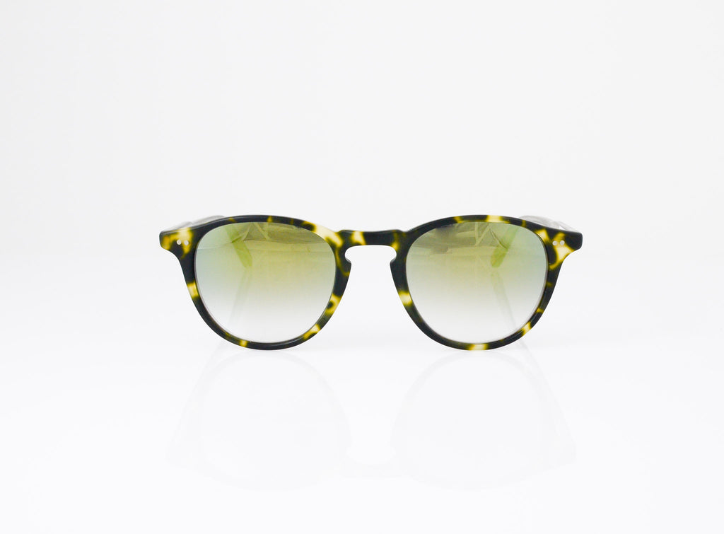 GLCO Hampton Sunglasses in Matte Tokyo Spotted Tortoise with Layered Gold Mirror lens, front view, from Specs Optometry