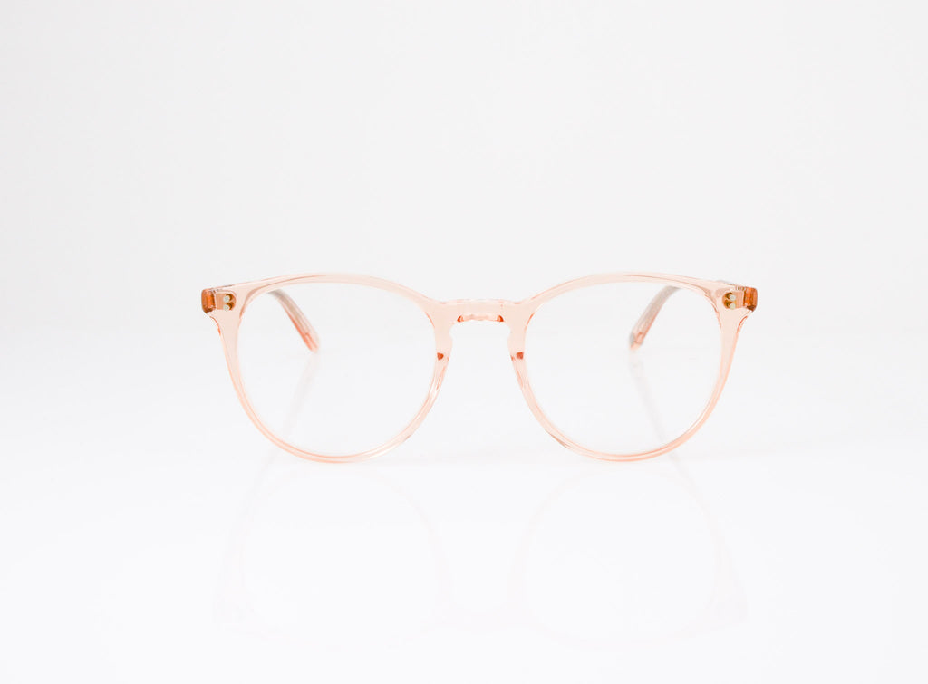 GLCO Milwood Eyeglasses in Pink Crystal, front view, from Specs Optometry