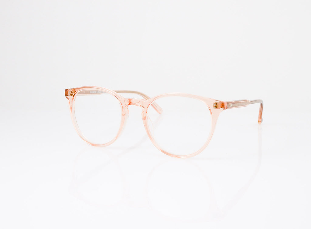 GLCO Milwood Eyeglasses in Pink Crystal, side view, from Specs Optometry