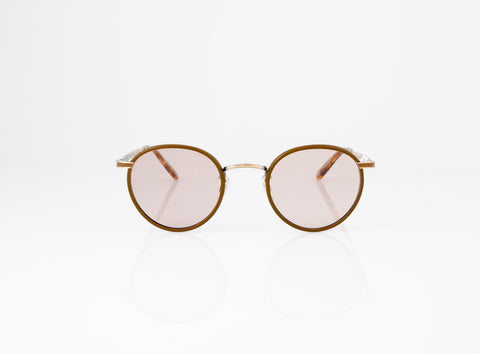 GLCO Wilson Sunglasses x Want Les Essentials Collab in Mocha Leather, front view, Specs Optometry