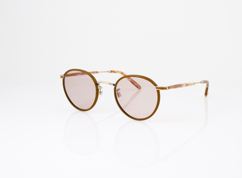 GLCO Wilson Sunglasses x Want Les Essentials Collab in Mocha Leather, side view, Specs Optometry