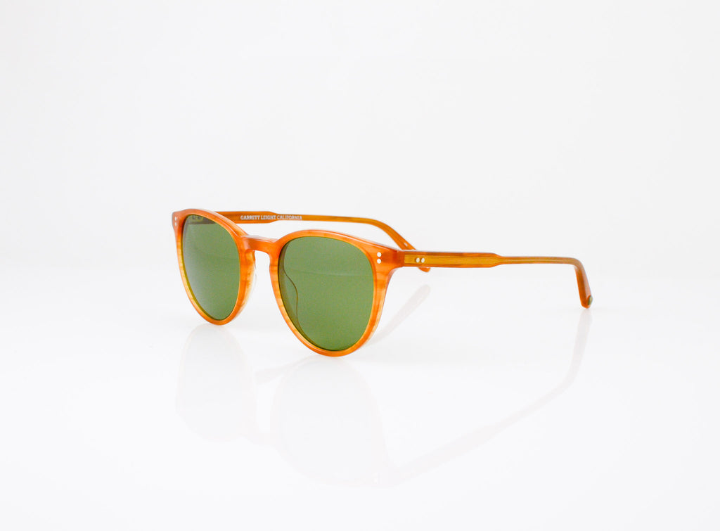 GLCO Milwood Sun in Butterscotch with Pure Green Glass, side view, from Specs Optometry