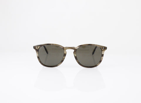 GLCO Kinney Sun in GI Tortoise Laminate with Polarized Grey lenses, front view, from Specs Optometry