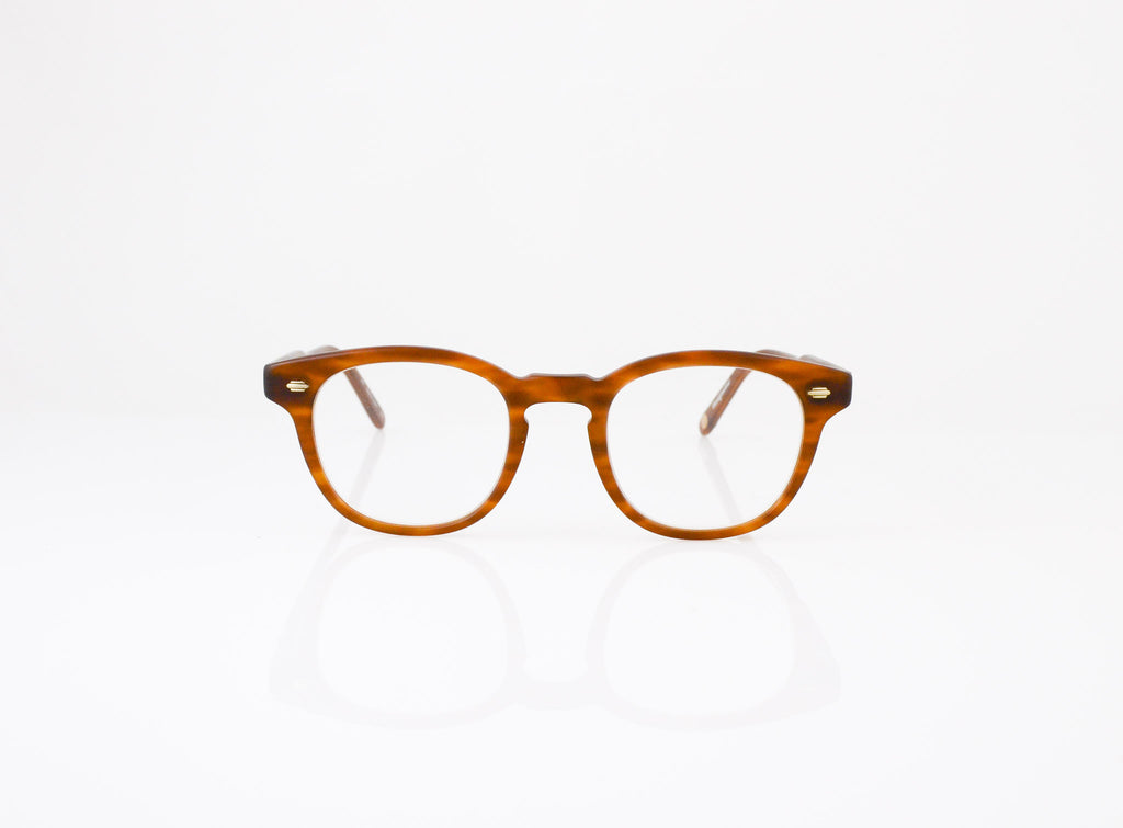 GLCO Warren Eyeglasses in Matte Demi Blonde, front view, from Specs Optometry