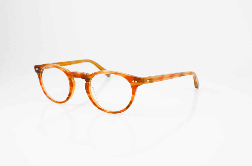Moscot Frankie Eyeglasses in Blonde, side view, from Specs Optometry
