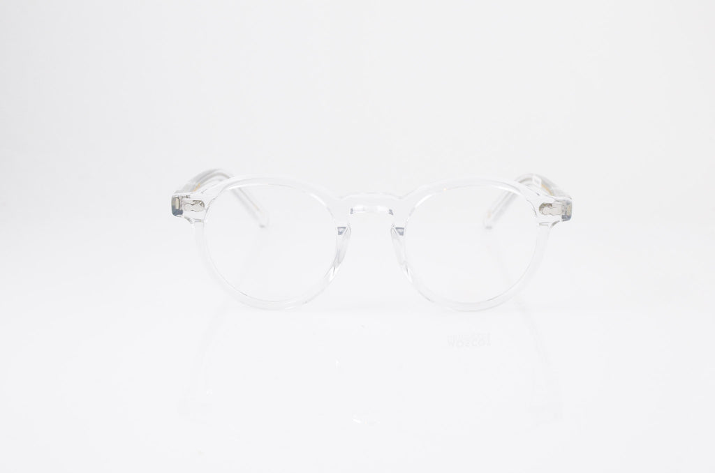 Moscot Miltzen Eyeglasses in Crystal, front view, from Specs Optometry