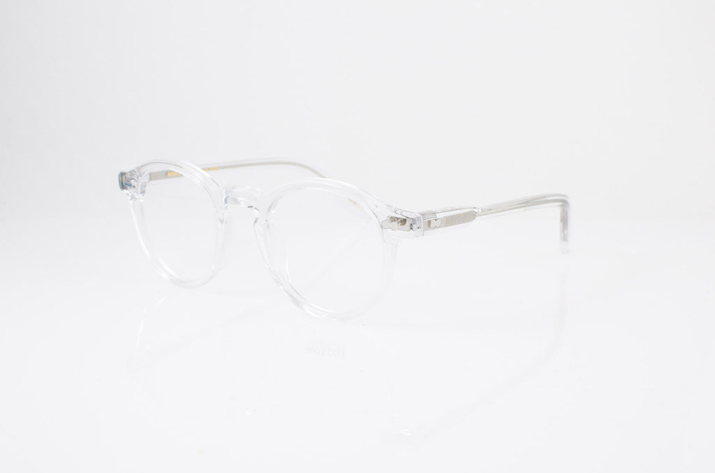 Moscot Miltzen Eyeglasses in Crystal, side view, from Specs Optometry