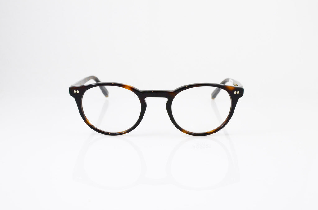 Moscot Frankie Eyeglasses in Tortoise, front view, from Specs Optometry