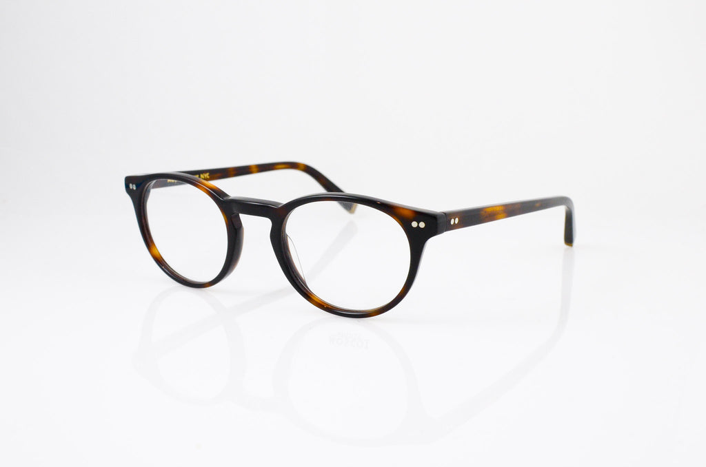 Moscot Frankie Eyeglasses in Tortoise, side view, from Specs Optometry