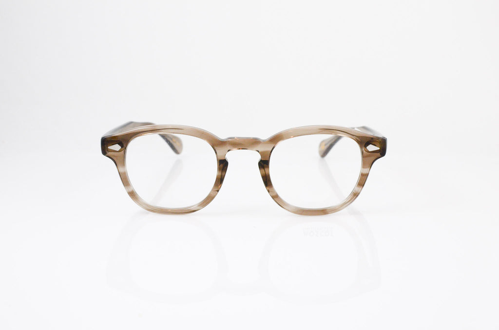 Moscot Lemtosh Eyeglasses in Brown Ash, front view, from Specs Optometry