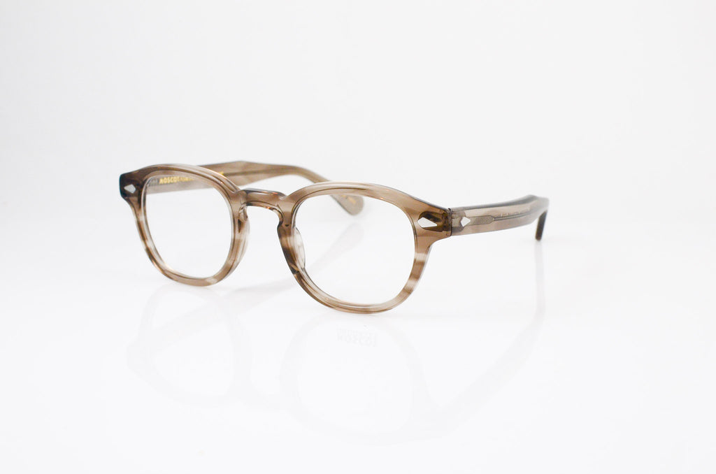 Moscot Lemtosh Eyeglasses in Brown Ash, side view, from Specs Optometry