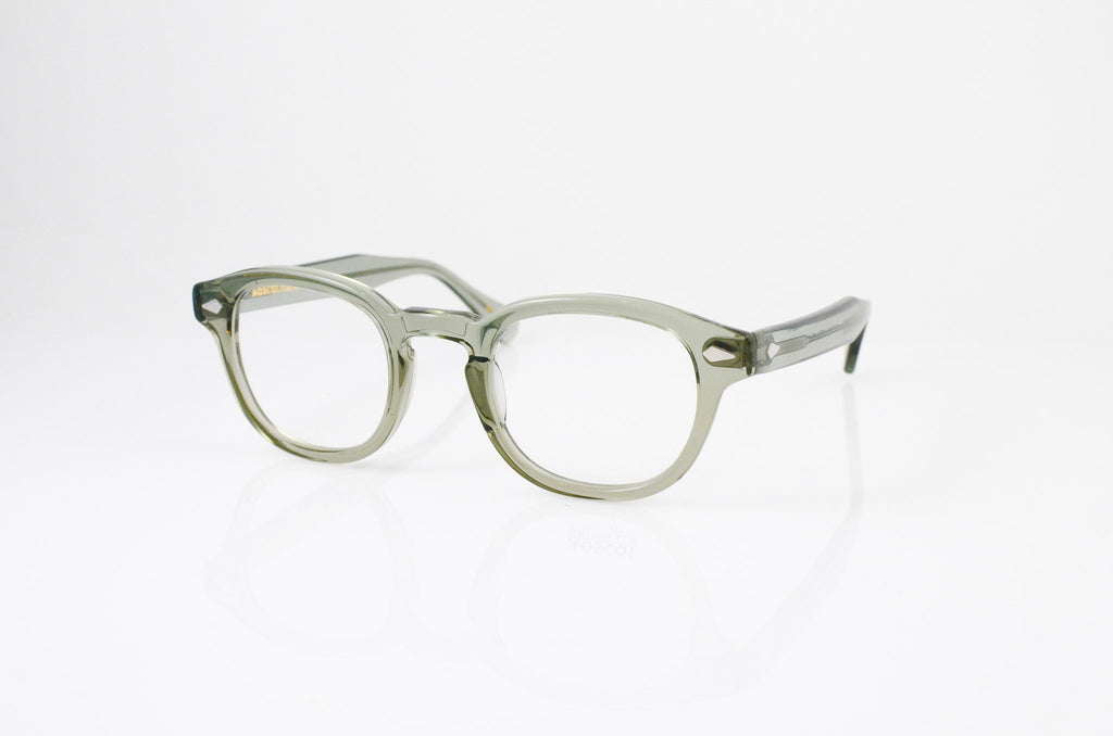Moscot Lemtosh Eyeglasses in Sage, side view, from Specs Optometry