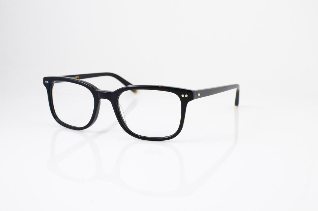 Moscot Pat Eyeglasses in Black, side view, from Specs Optometry