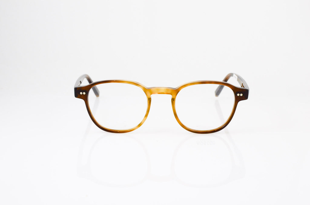 Moscot Arthur Eyeglasses in Tobacco, front view, from Specs Optometry