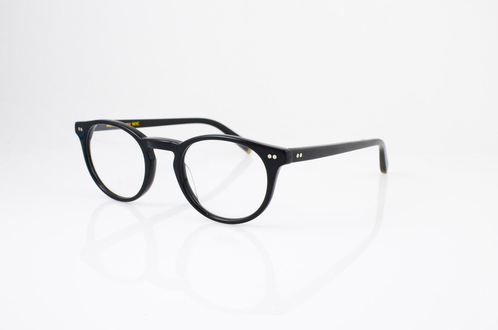 Moscot Frankie Eyeglasses in Black, side view, from Specs Optometry