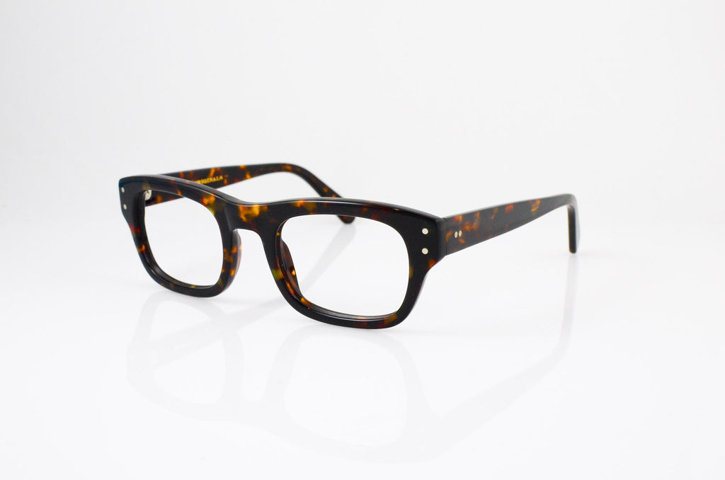 Moscot Nebb Eyeglasses in Tortoise, side view, from Specs Optometry