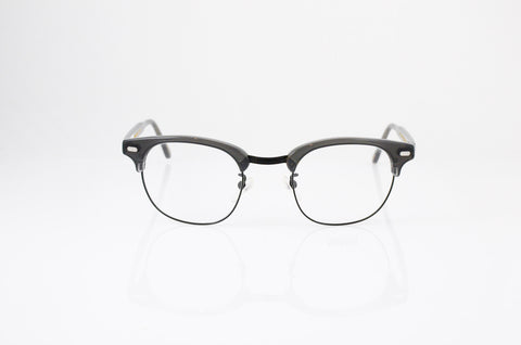 Moscot Yukel Eyeglasses in Grey Black, front view, from Specs Optometry