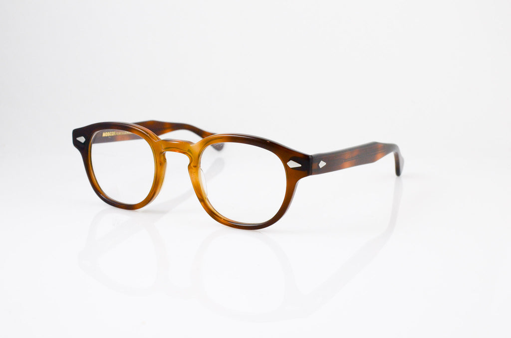 Moscot Lemtosh Eyeglasses in Tobacco, side view, from Specs Optometry