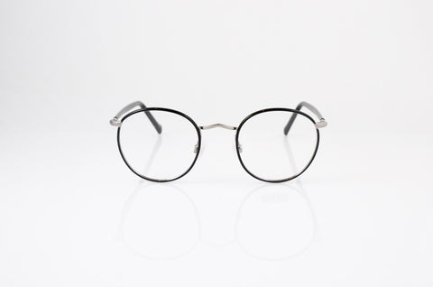 Moscot Zev Eyeglasses in Black Gunmetal, front view, from Specs Optometry