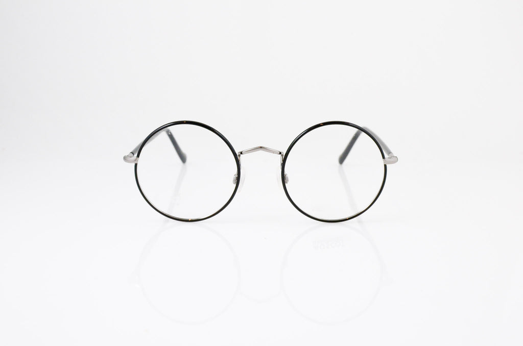Moscot Eisen Eyeglasses in Black Gunmetal, front view, from Specs Optometry