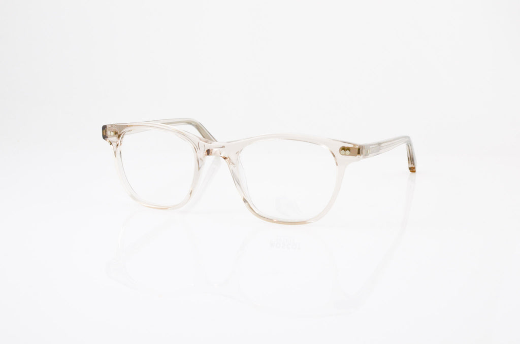 Moscot Noah Eyeglasses In Mist, side view, from Specs Optometry