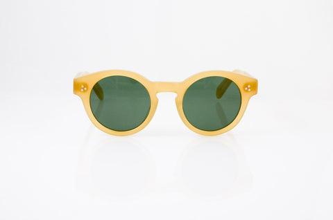 Moscot Grunya Sunglasses In Goldenrod, front view, from Specs Optometry