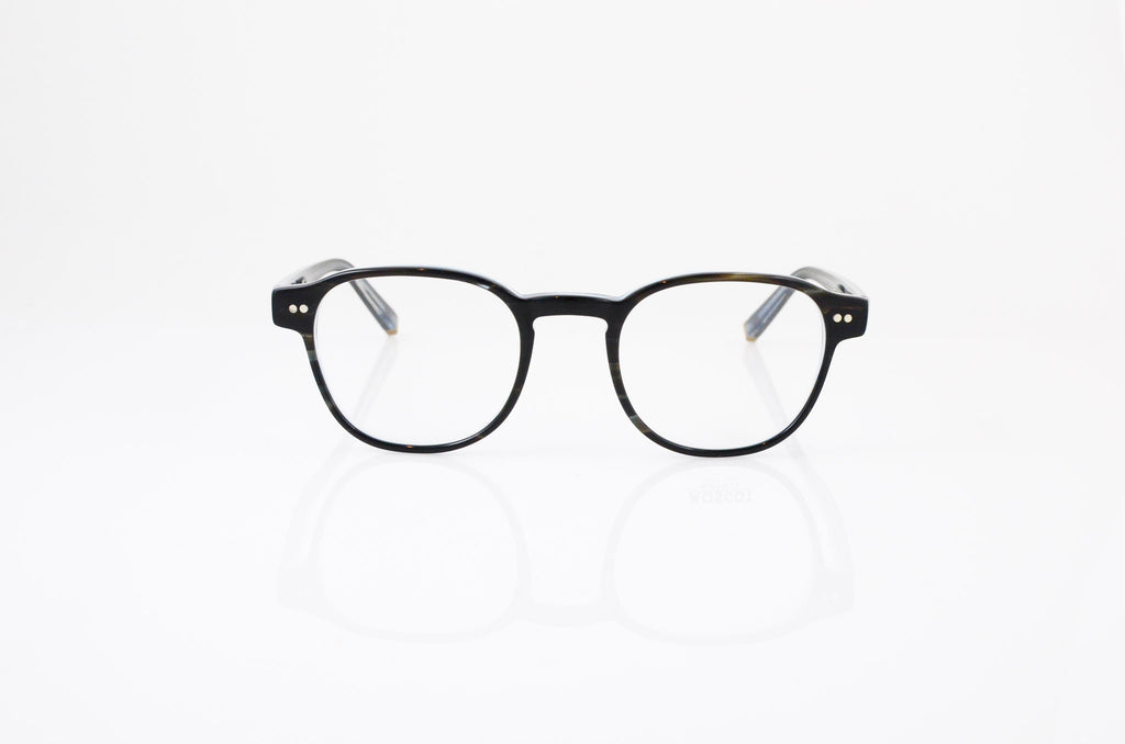 Moscot Arthur Eyeglasses In Grey Ice, front view, from Specs Optometry