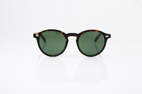 Moscot Miltzen Sunglasses In Tortoise, front view, from Specs Optometry