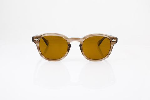 Moscot Lemtosh Sunglasses In Brown Ash, front view, from Specs Optometry