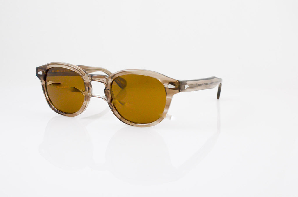 865eb70669af Moscot Lemtosh Sunglasses In Brown Ash, side view, from Specs Optometry