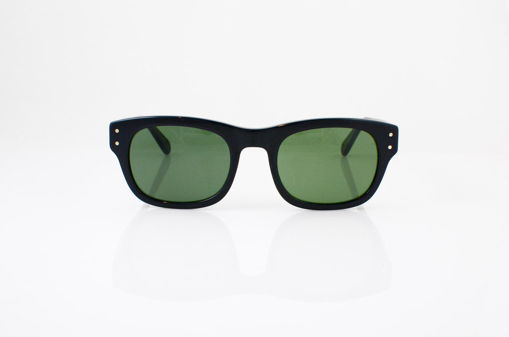 Moscot Nebb Sunglasses In Black, front view, from Specs Optometry