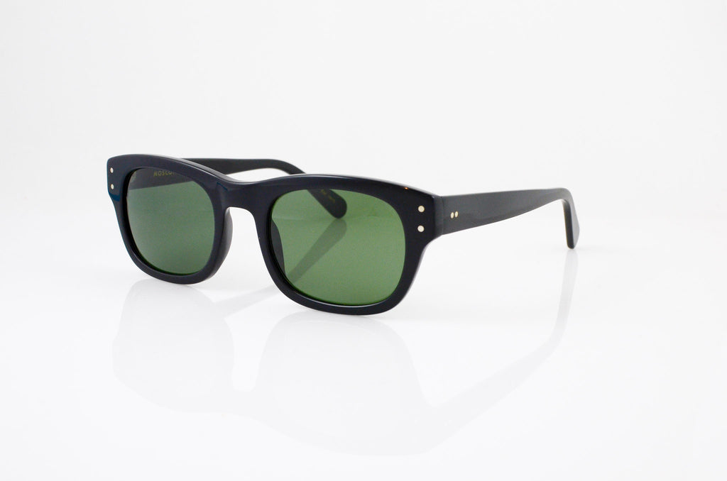 Moscot Nebb Sunglasses In Black, side view, from Specs Optometry