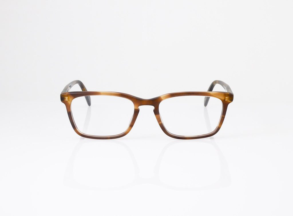 Front shot of SALT. Optics Reid Eyeglasses in Matte Tweed Moss