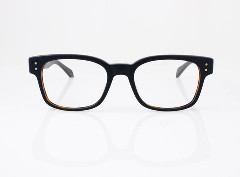 SALT Klaus Eyeglasses in Matte Black Oak, front view, from Specs Optometry