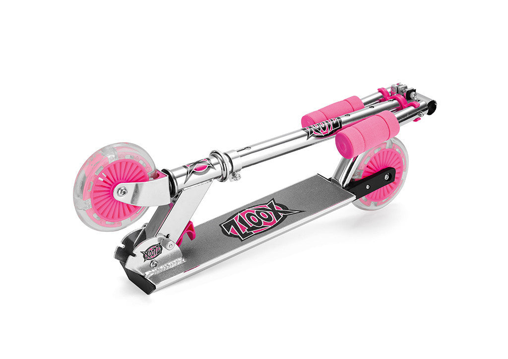 Two Wheel Stunt Scooter with LED Lights (Pink, Kids)