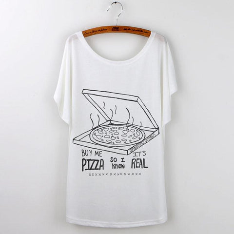 Pizza Print T-Shirt Women