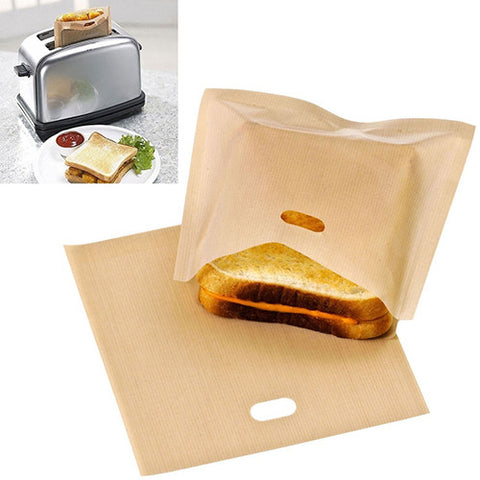 Reusable Toast Toaster Bag Oven Grill Pizza Sandwich Bag Pockets Microwave Tool