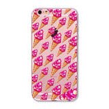 Ultra Thin Donut Macaron Pizza Clear Case Cover