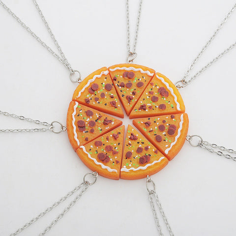 7pcs/ Set Pizza Necklace or Keychain