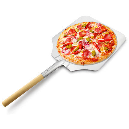 "Aluminum Pizza Peels Wood Handle Aluminum Blade 12"" x 14"""