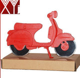 red fashion motorcycle pizza cutter