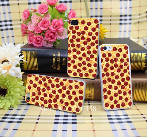 Pepperoni pizza pattern Style Hard Transparent Phone Cases