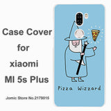 Pizza Wizard design hard transparent clear Cover Case