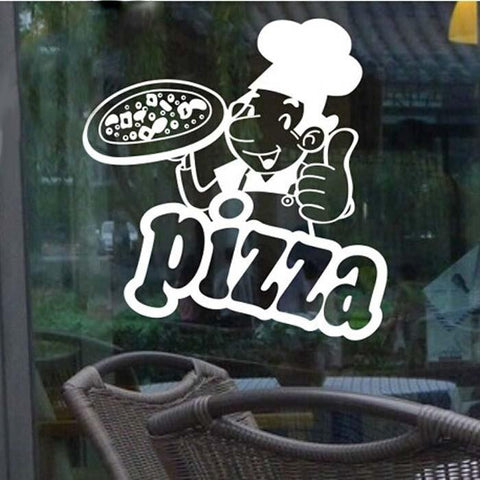 Pizza art wall decals